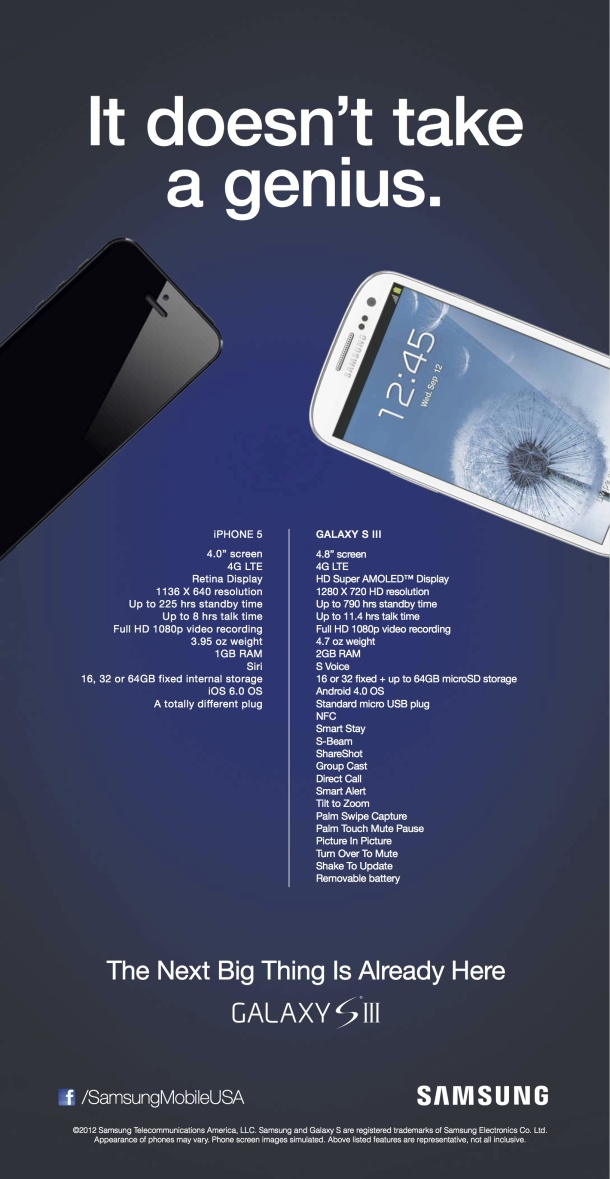 Samsung Galaxy S3 vs iPhone5
