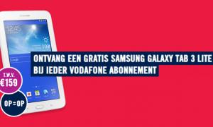 Weekendaanbieding: GRATIS Galaxy Tab 3 bij een Galaxy S4 i.c.m. Vodafone abonnement