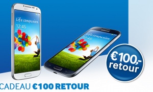 Tip! €100 retour bij aankoop van Samsung Galaxy S4 (t/m 30 april)